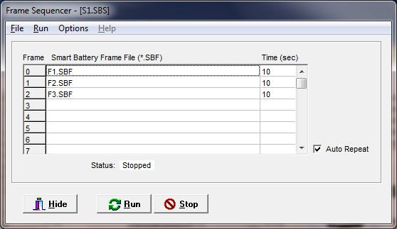 SBS Smart Battery Emulator (SBEmmy) Software